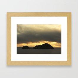 Isolated islet Framed Art Print