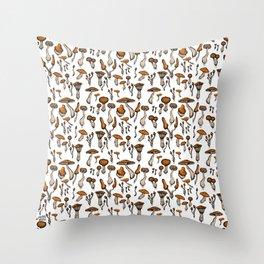 Mushroom Addiction Throw Pillow
