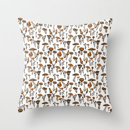 Mushroom Addiction Throw Pillow