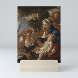 Sebastiano Ricci - The Holy Family with Angels Mini Art Print