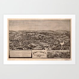 Aerial View of Terryville, Connecticut (1894) Art Print