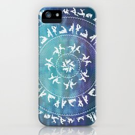 Kama Sutra Mandala Dark Blue iPhone Case