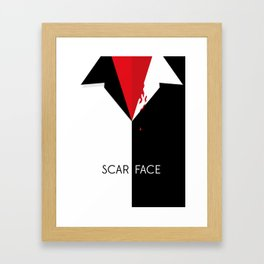 Scarface Minimalist Movie Poster Framed Art Print