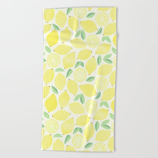 Summer Lemons Beach Towel