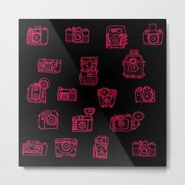 Camera: Pink Metal Print