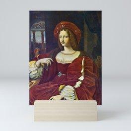 Joanna of Aragon by Raphael Mini Art Print