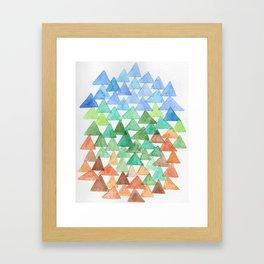 Forest of Tris Framed Art Print