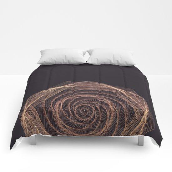 Geometric Rose Comforters