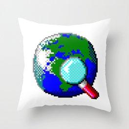 Vintage Globe Throw Pillow