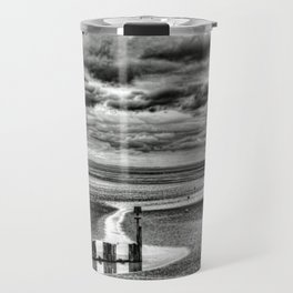 Cleethorpes Beach Monochrome Travel Mug