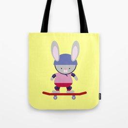 Bunny Skater Tote Bag