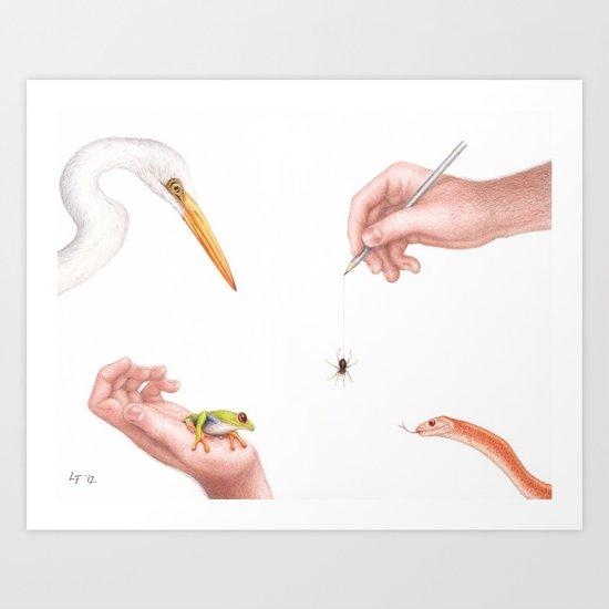 It's Complicated... by Lars Furtwaengler | Colored Pencil | 2012 Art Print