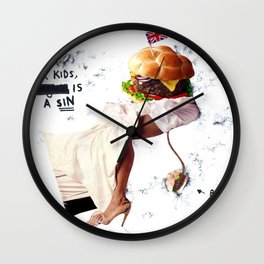 Burgery is a Sin Wall Clock