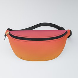 pink red orange yellow evening sky gradient Fanny Pack