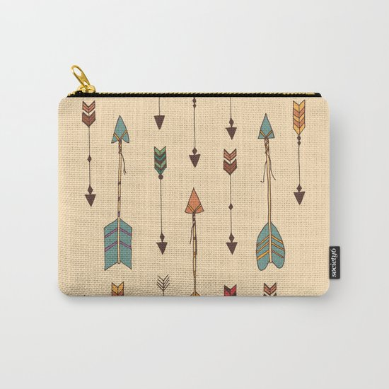 Vintage Tribal Arrows Carry-All Pouch