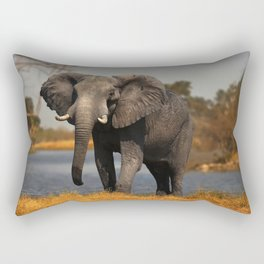 African Elephant Rectangular Pillow