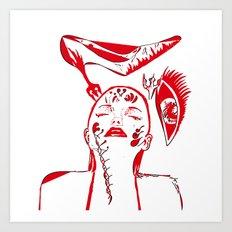 abstract woman Art Print