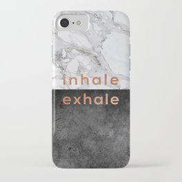 Inhale Exhale Copper iPhone Case