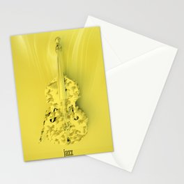 Jazz Yellow Accent Stationery Cards