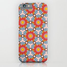 Araian Geometric Pattern with vibrant colors iPhone Case