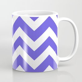Majorelle blue - blue color - Zigzag Chevron Pattern Coffee Mug