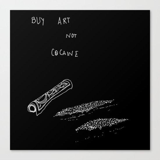 Cocaine Canvas Print