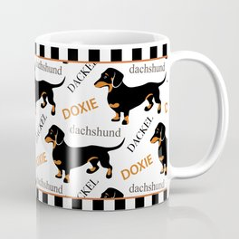 Black Tan Smooth Dachshund Coffee Mug