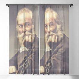Walt Whitman, Literary Legend Sheer Curtain