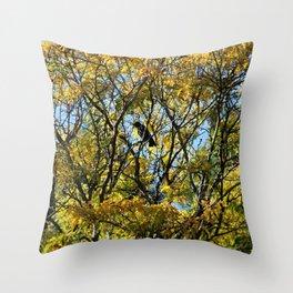 Fall Crow Throw Pillow