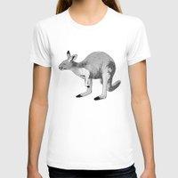 kangaroo T-shirts featuring Kangaroo by Goodnight Silver