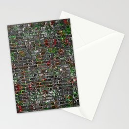 Grunge Wall Of Mould And Green Stationery Cards