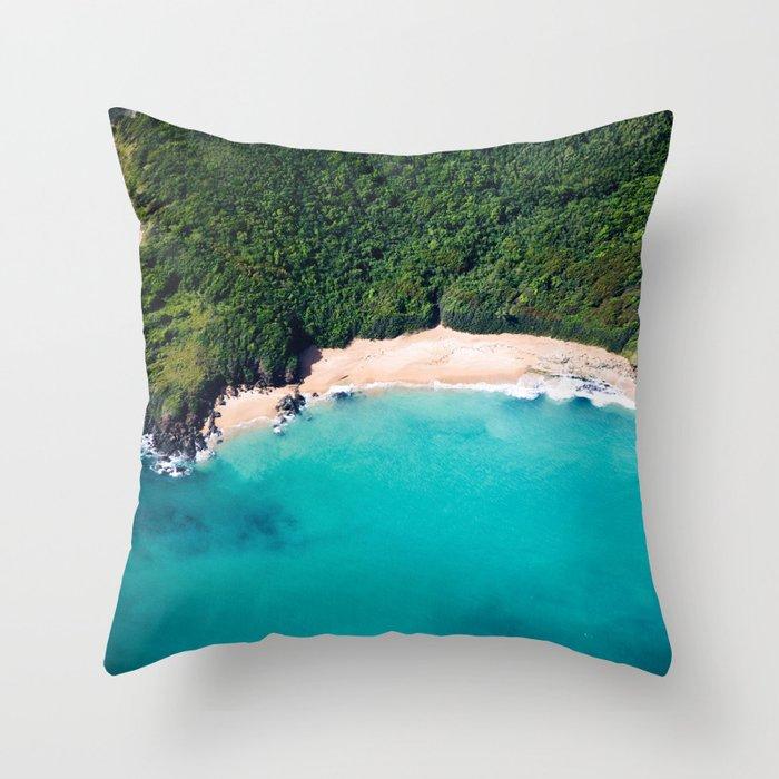 Turquoise Beach Throw Pillow
