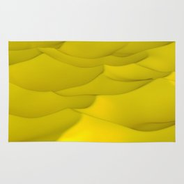 Yellow wavy surface Rug