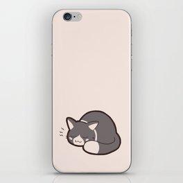 Sleepy Kitty iPhone Skin