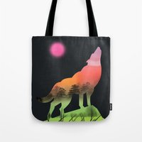 dog Tote Bags featuring dog by mark ashkenazi