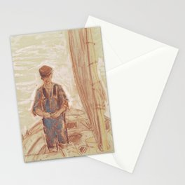 Fisherman, Isle of Shoals 1903 by Childe Hassam Stationery Cards
