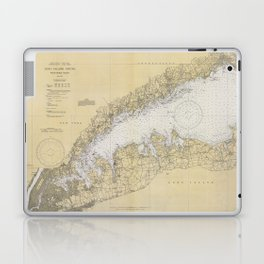 Vintage Map of The Long Island Sound (1934) Laptop & iPad Skin
