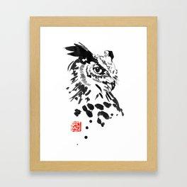 chouette owl Framed Art Print