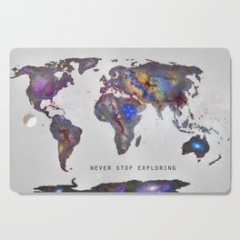 """""""Star map. Never stop exploring...II"""". World map. Cutting Board"""
