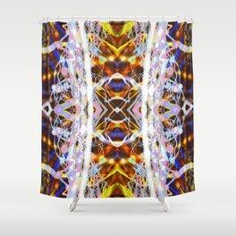 Light Dance Kaleidoscope edit 4 Shower Curtain