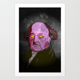 The foul stench that was John Adams Art Print