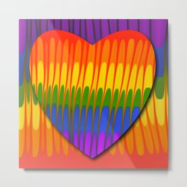I love Rainbow Metal Print
