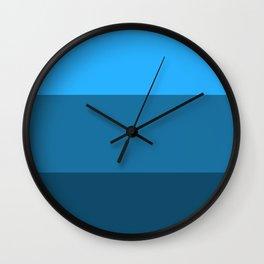 Blue Gradient Pattern Wall Clock