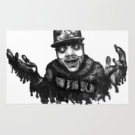 Chance the Rapper Lithograph Rug