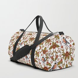 New Beginnings - Spring/Summer Floral Pattern With Robins, Branches & Flowers Duffle Bag
