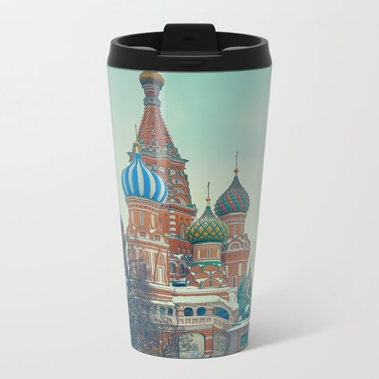 Cathedral of Vasily the Blessed Metal Travel Mug