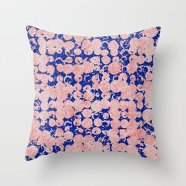 Pinkish staines Throw Pillow
