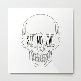 See No Evil Metal Print