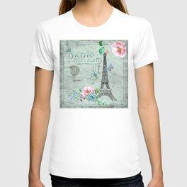 Paris - my love - France Eiffeltower Nostalgy - French Vintage T-shirt