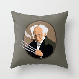 Hegel is a pussy Throw Pillow